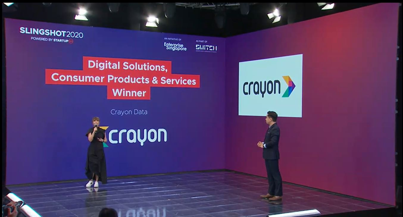 Crayon Data emerges as Top 10 winner of SLINGSHOT 2020 @ Singapore Fintech Festival